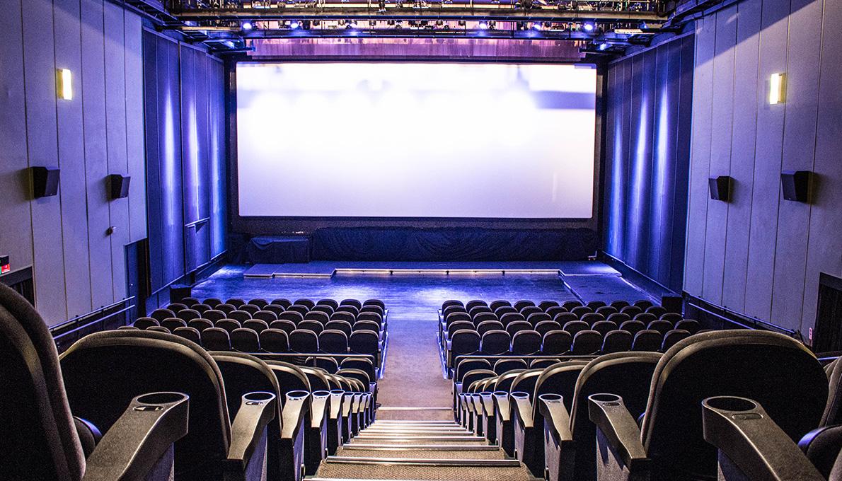 Movie theater inside UFF Arts Center